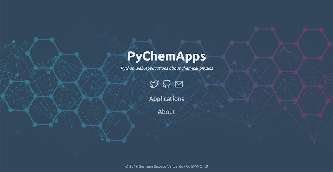 pychemapps landing page